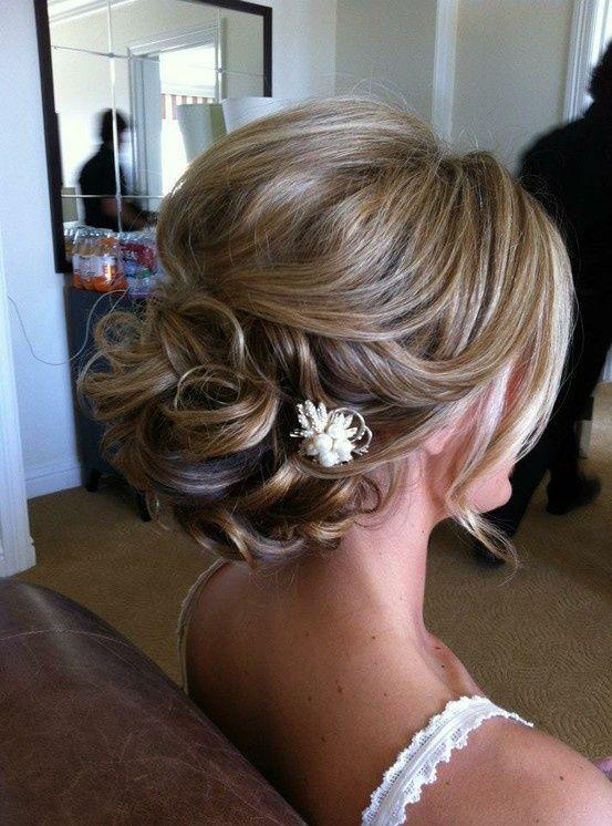 wedding updo hairstyle for medium hair