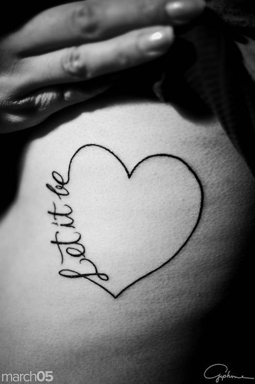 12 Let It Be Tattoo Designs Pretty Designs