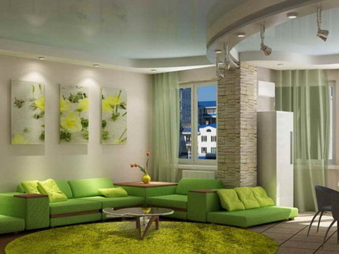 Living Room Fabulous Green Walls Design Rooms With