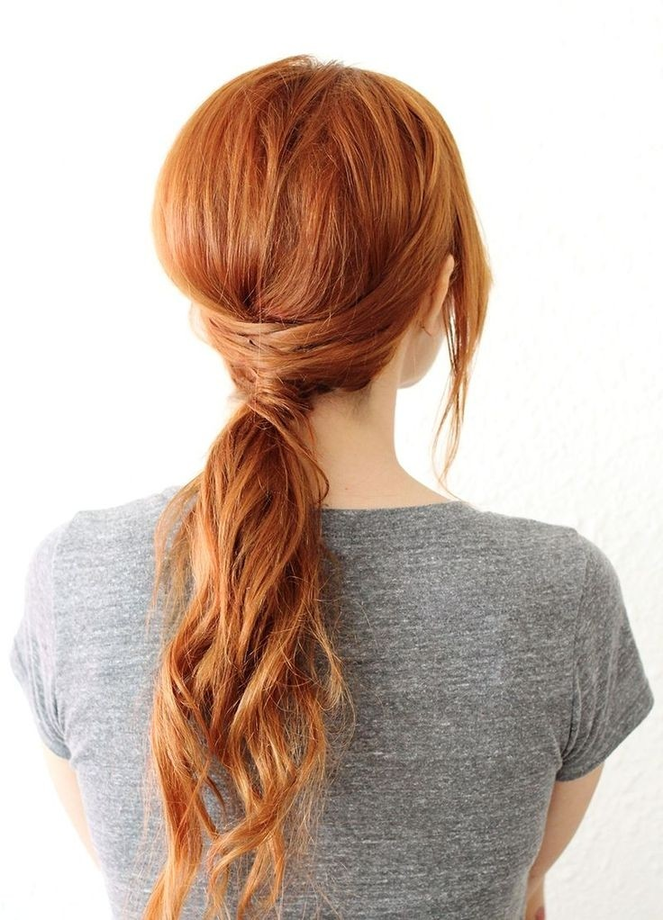 Easy Twisted Ponytail for Summer