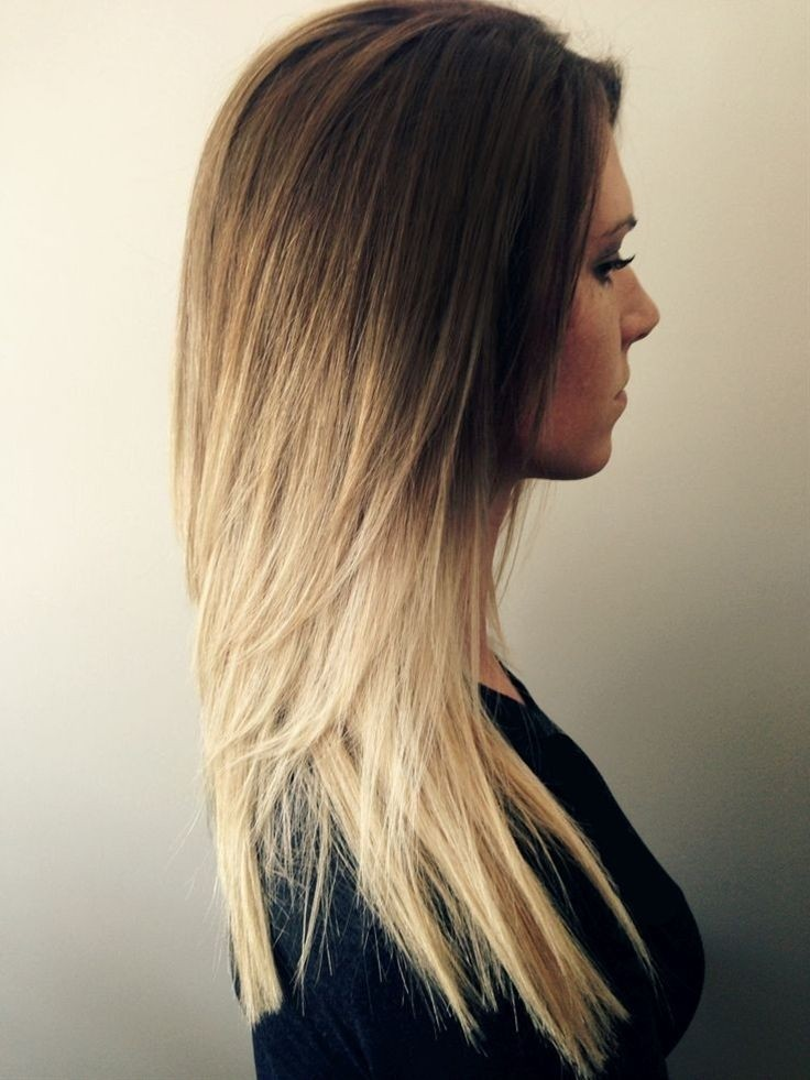 Ombre Hairstyle for Long Straight Hair