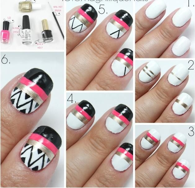 Easy And Quick Toe Nail Art Design Using Toothpick Cute Zebra Designs Best