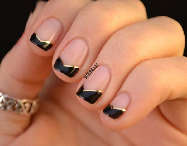 Por Acrylic Nail Designs Katty Nails Blue And Black Art