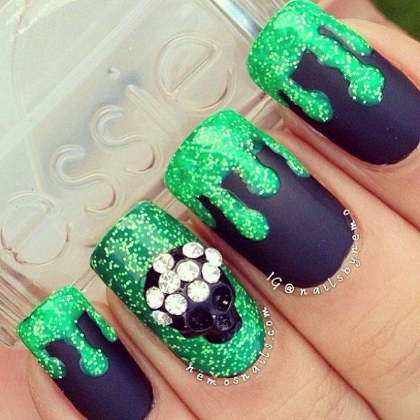 Amazing Glitter Nail Art Designs 2016