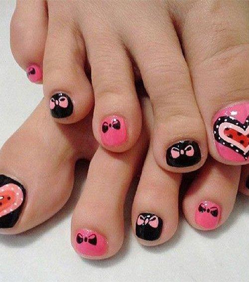 cute easy toenail design