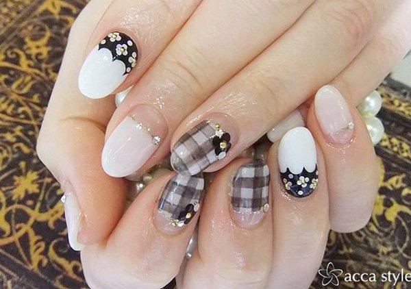 Wedding Plaid Nail Design