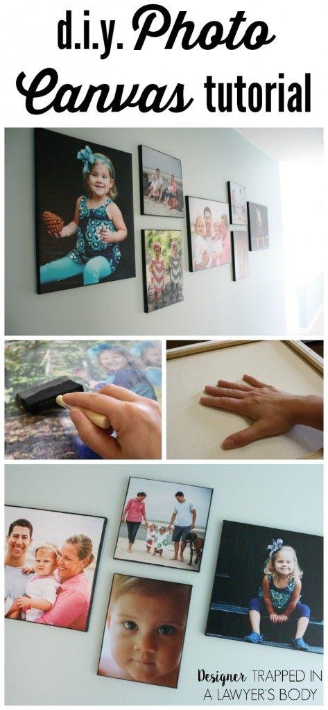 DIY Photo Canvas Tutorials
