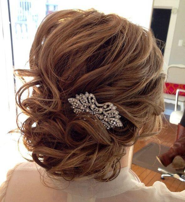 twisted wedding updo for medium hair