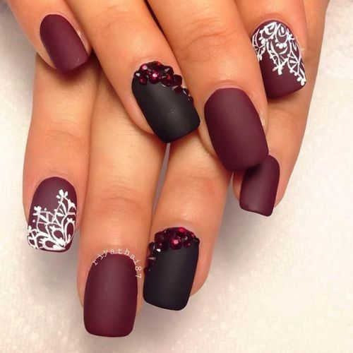 Glamorous Matte Nails