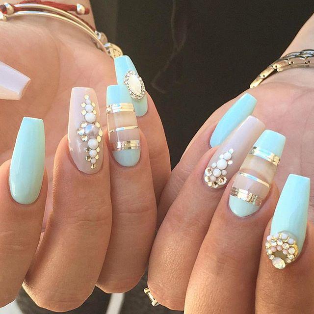 Mint Matte Nail Design