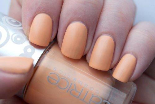 Orange Matte Nail Design