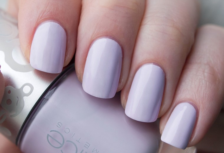 Purple Matte Nail Design