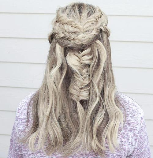 Fishtail and Half up Half down