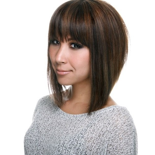 Stacked Bob with Wispy Bangs