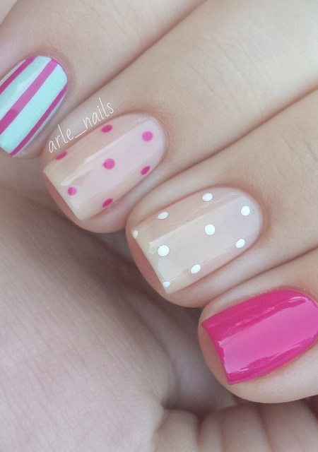 cute-beige-nails via
