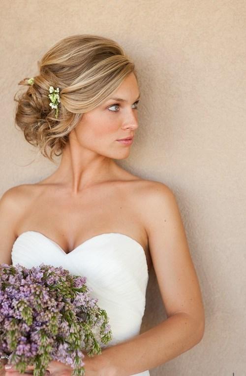 Glamorous Wedding Updos for Brides