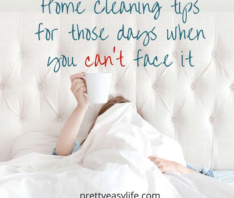 Home Cleaning tips for those days when you can't face it