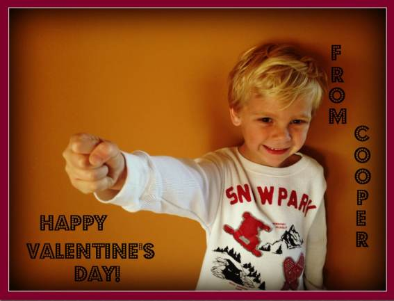 Personalized Valentine - Text and frame from PicMonkey - ExtraordinaryMommy.com