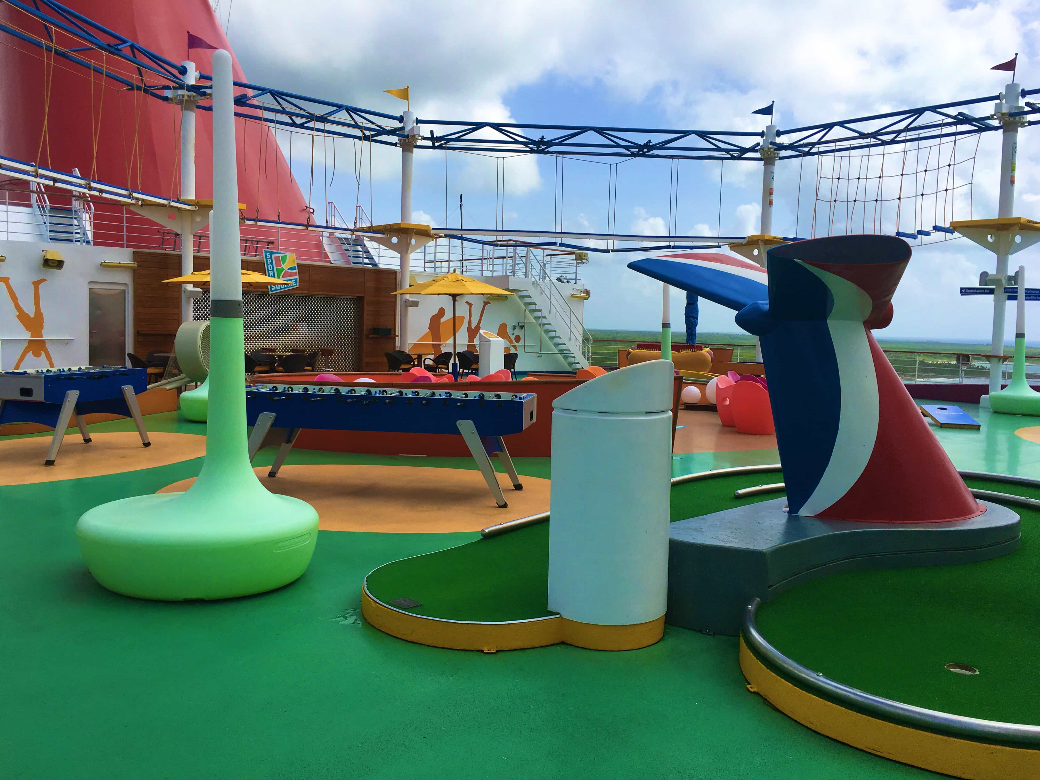 9 Reasons Cruising the Carnival Magic Good for Adults - fun on the sport courts