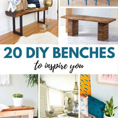 20 DIY Benches to Inspire You (my favorites are #4 and #18!)