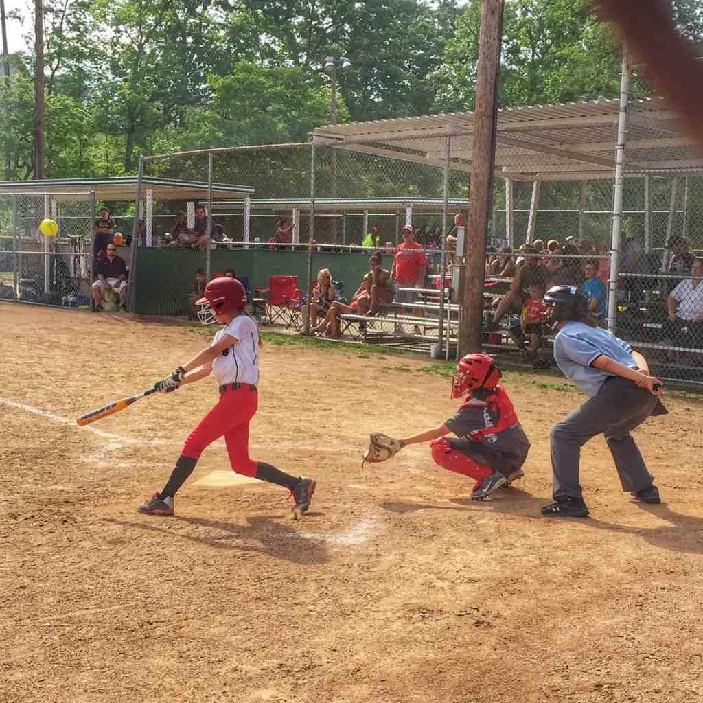 Delaney Softball Hit
