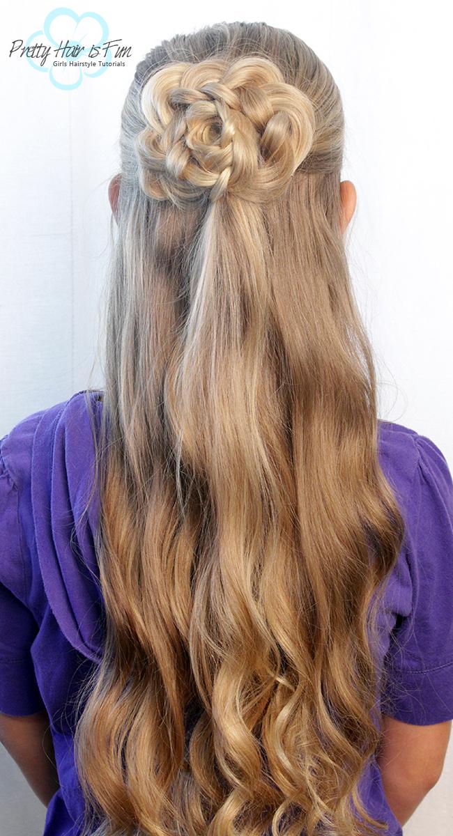 Pretty Hair Is Fun Half Up Hair Flower Pretty Hair Is
