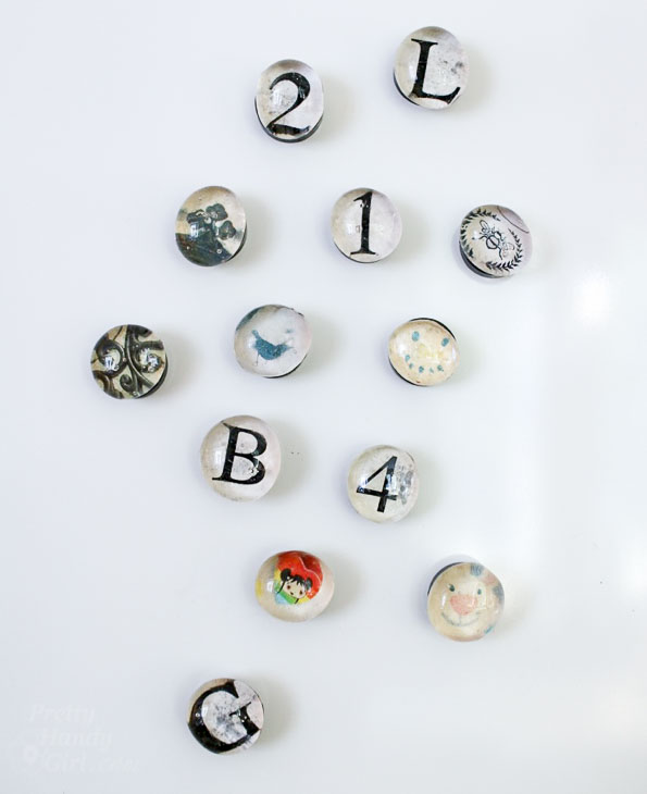 finished glass bead magnets