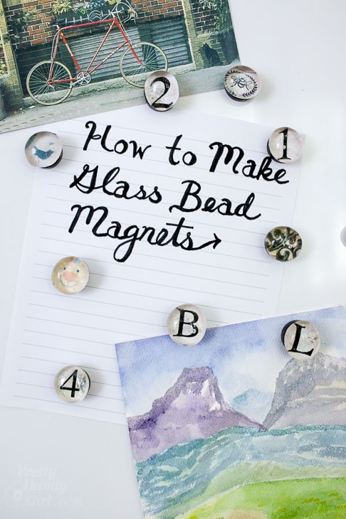 how to make glass bead magnets vertical photo