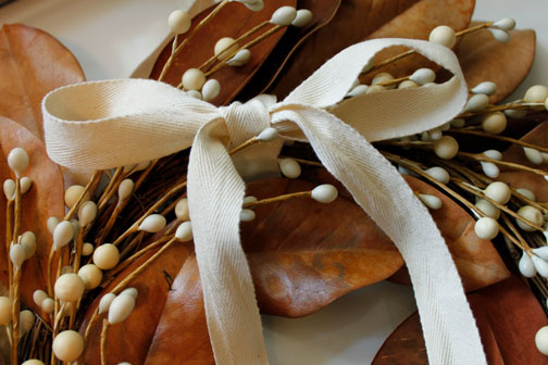 Mag-nolia-fying a Fall Wreath