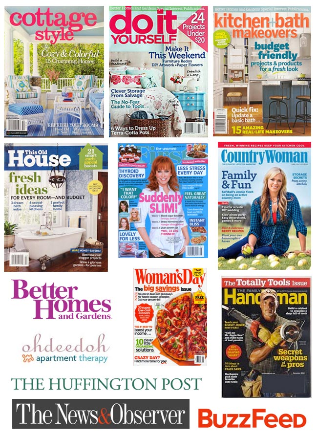 Pretty Handy Girl's Work has appeared in these magazines and websites.