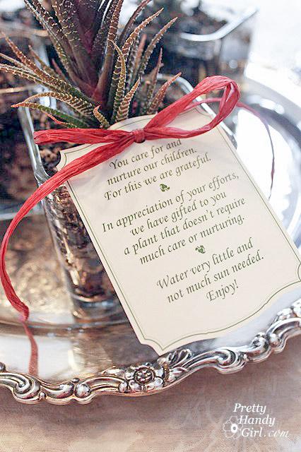Thank You For Nurturing My Child Teacher Gift Idea | Pretty Handy Girl