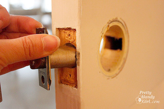 Save & Removing Door Knobs Latches and Hinges - Pretty Handy Girl