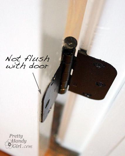 common door problem flush hinge