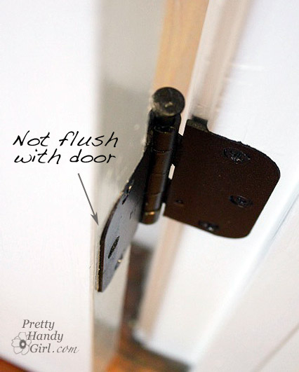 common door problem flush hinge