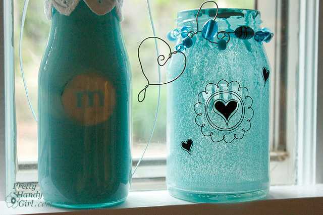before - How To Paint Glass Bottle