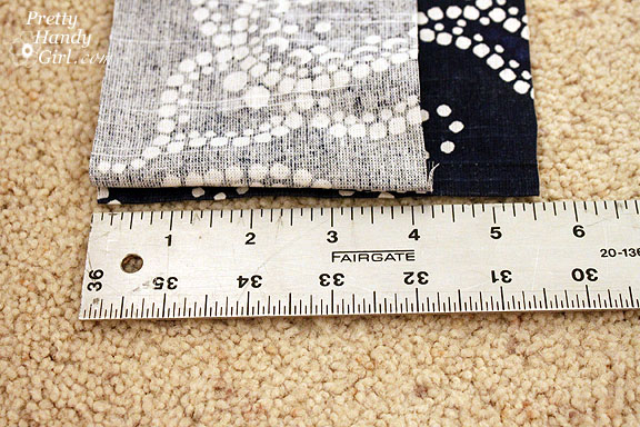 Sewing a Bench Cushion fabric measure