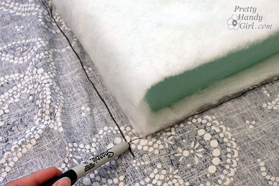 Sewing a Bench Cushion cut pieces