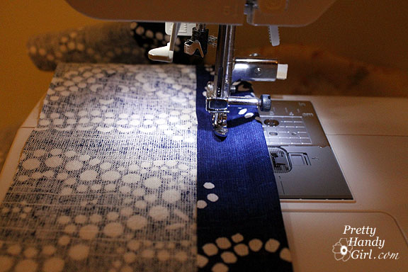 sew fabric for cushion