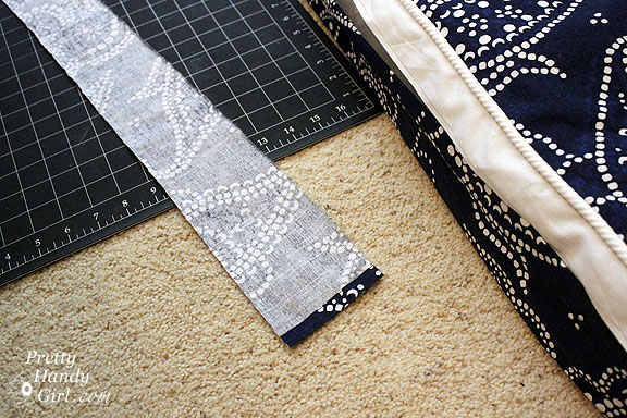 Sewing a Bench Cushion with Piping back flap