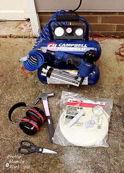 weather stripping seal garage door tools