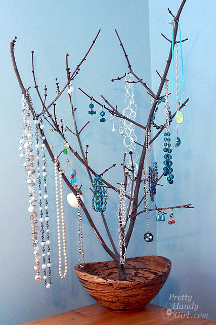 Tree Branch Jewelry Holder : branch, jewelry, holder, Sculptural, Branch, Jewelry, Display, Holder, Pretty, Handy
