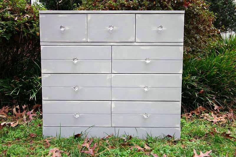 finished distressed dresser