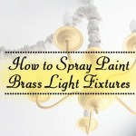 How to Spray Paint Brass Light Fixtures