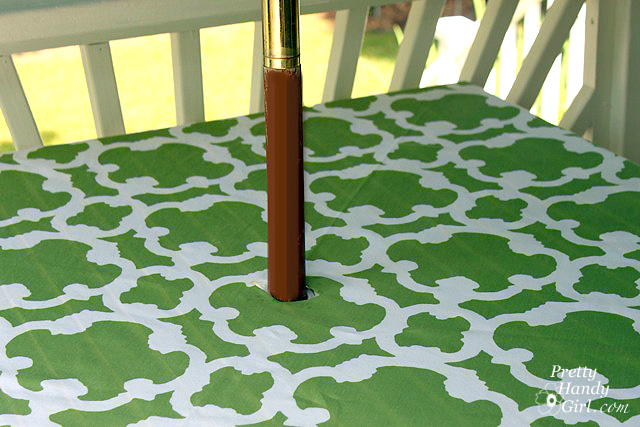 Easy sewing projects to help you learn to sew - no sew patio tablecloth