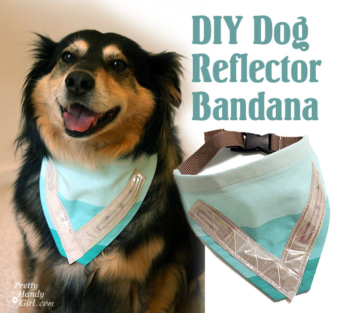 Easy sewing projects to help you learn to sew -dog safety reflector bandana