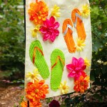 Summer Garden Flag from a Dollar Store Placemat