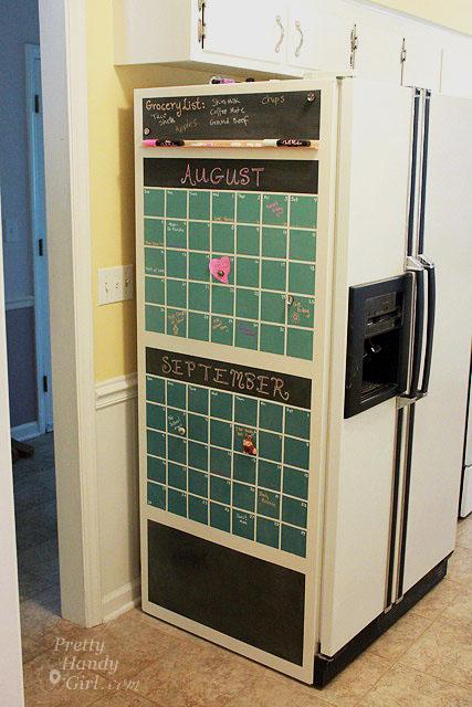 Chalkboard Calendar for the Refrigerator