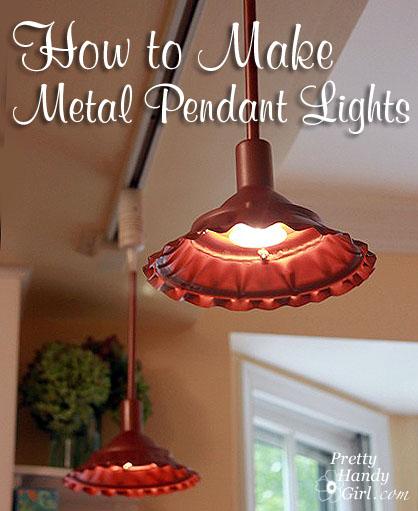 How To Make Farmhouse Style Metal Pendant Light