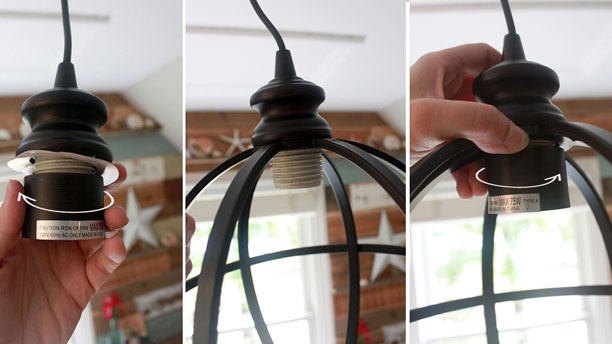 A Recessed Light To Pendant, How To Change A Ceiling Light Bulb Socket