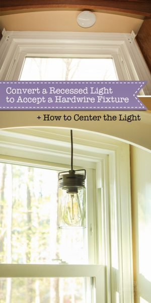 Kit Convert Recessed Light Pendant